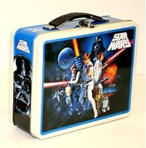 Star Wars Tin Lunch Box Vintage Retro Style Classic Luke Skywalker Movie Poster Collectable