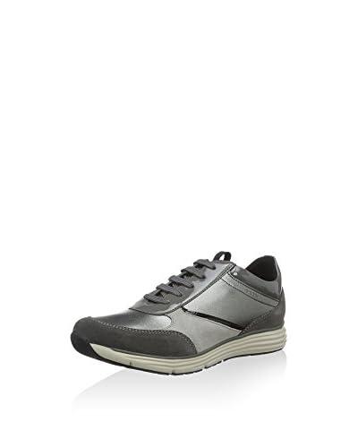Geox Sneaker Donna Dynamic A  [Grigio Scuro/Canna di Fucile]