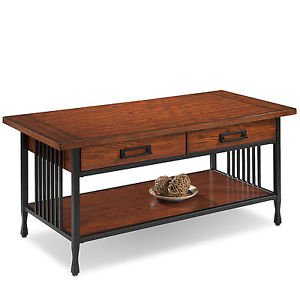 Leick Furniture High Quality Ironcraft Coffee Table