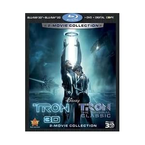 Tron: Legacy / Tron: The Original Classic (Five-Disc  Combo: Blu-ray 3D  / Blu-ray / DVD / Digital Copy)$37.49