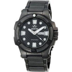 REACTOR Men's 72501 Meltdown Black Dial Black Nitride Plated Watch