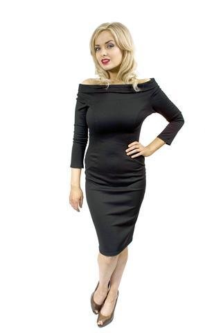 Black Pencil Dress on Off Shoulder Black Dress  Pencil Dress    Burlesque Dress   Costumes