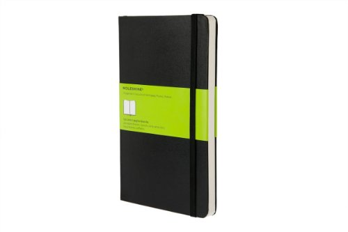 Moleskine Classic Notebook, Large, Plain, Black, Hard Cover (5 X 8.25) (Classic Notebooks)