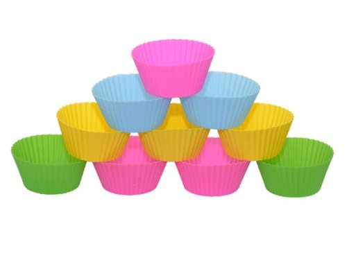 Savvy Chef Silicone Baking Cups, Set Of 12 Reusable Cupcake Liners In 4 Fashionable Colors. Standard Size With Multiple Uses And A Lifetime Guarantee!