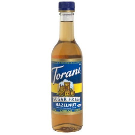 Torani Sugar Free Hazelnut Coffee Syrup Mix, 12.7 Ounce