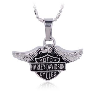 Motorcycle Biker Harley Davidson Necklace and Pendant