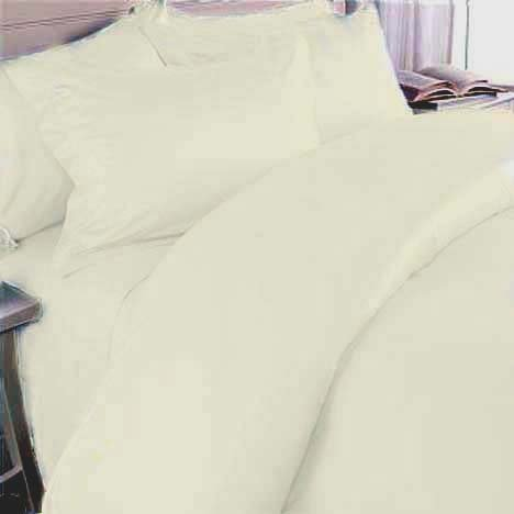 Marrikas 1500 Class Microfiber Twin Extra Long Solid Ivory Sheet Set front-289725