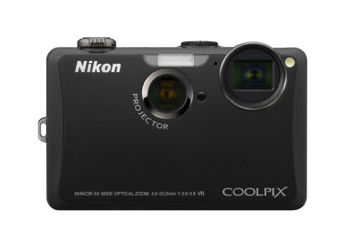 Nikon Coolpix S1100pj 14 MP Digital Camera with 5x Wide Angle Optical Vibration Reduction (VR) Zoom and 3-Inch LCD and Built-in Projector (Black)