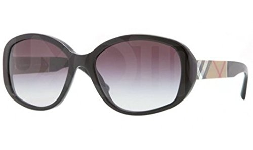 Burberry Be4159 Sunglasses-34338G Black (Gray Gradient Lens)-57Mm