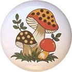 Merry Mushroom by Sears CERAMIC Drawer Pull Knob