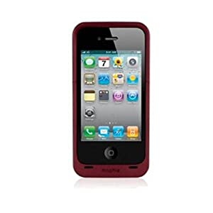 Mophie Juice Pack Air Case and Rechargeable Battery for iPhone 4 Compatible with Verizon & AT&T iPhone 4 (Red)