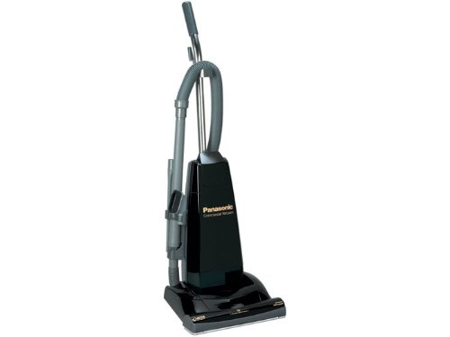 Panasonic Mc-V5210 Commercial Upright Vacuum Cleaner With Tools On-Board, Black