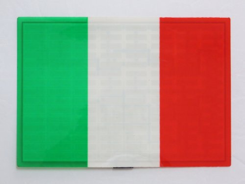 Italy Italian It Flag Flashing Sound Activated Dj Light Up Led Decal Sticker Patch Panel