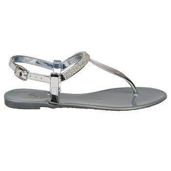 Nomad Women'S Pop Rock Jelly Sandal,Silver,9 M Us front-868665