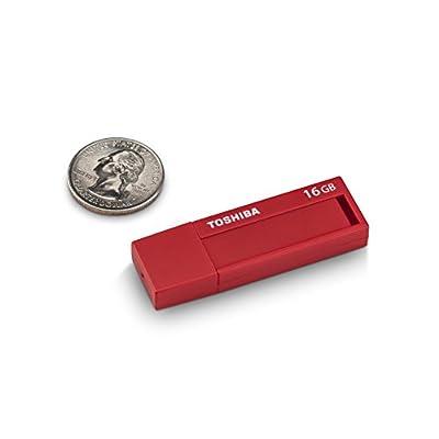 Toshiba TransMemory ID USB 3.0 Flash Drive 16GB - Red (PFU016U-1BLR)