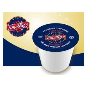 Timothy's Rainforest Espresso Coffee * 5 Boxes of 24 K-Cups *