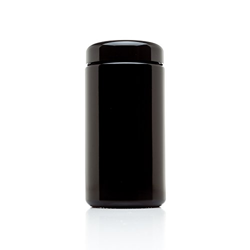 Infinity-Jars-500-ml-17-fl-oz-Tall-Large-Black-Ultraviolet-Glass-Wide-Mouth-Screw-Top-Jar