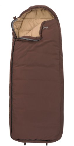 Slumberjack Log Cabin 40-Degree Sleeping Bag, 6-Feet 4-Inch, Brown
