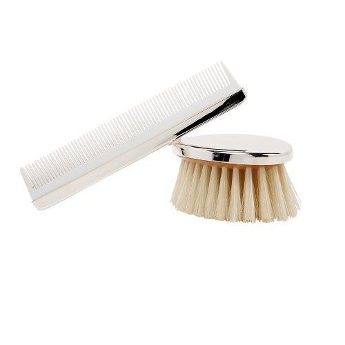 Elegant Baby Comb And Brush, Boy front-962237