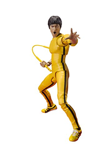 Bandai Tamashii Nations S.H. Figuarts Bruce Lee (Yellow Track Suit) Action Figure, Yellow
