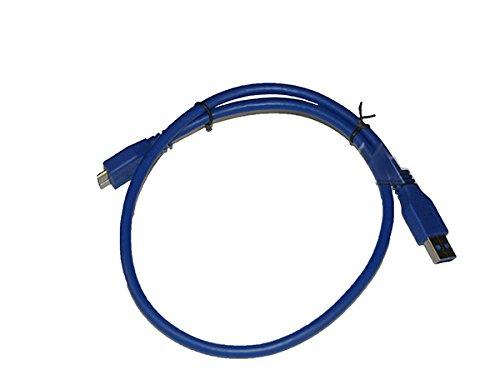 USB Kabel Ladekabel Datenkabel 3.0 Super High Speed für TOSHIBA STOR.SLIM 2.5 1 TB silber , STOR.E Plus 2 TB HDTP120EK3CA , STOR.E Partner 1 TB ,
