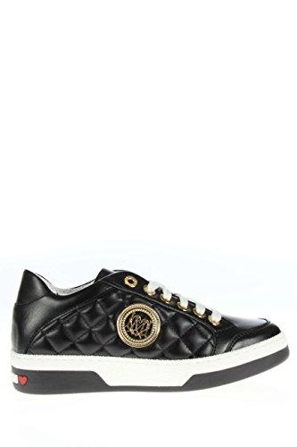 A15043G11 IBO 000.Sneaker in pelle con logo.Nero.37