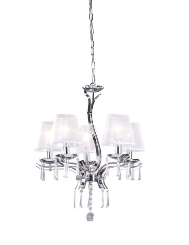 B0083UR59I Artcraft Lighting AC1045CH Roxborough Five-Light Chandelier, Chrome