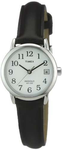 Timex Ladies Classic Watch  Black Leather Strap