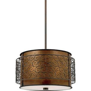 B0048LU0GQ Quoizel MC843CRC Mica 3-Light Pendant from the Quoizel Naturals Collection with Mica Shade, Renaissance Copper