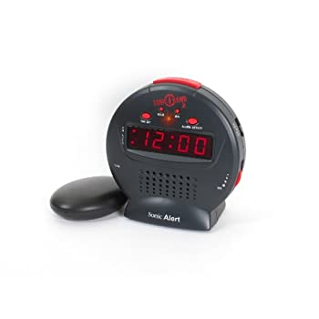 Sonic Alert SBJ525ss Sonic Bomb Jr., Black/Red