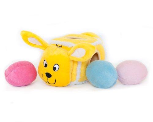 ZippyPaws-Hide-an-Egg-Burrow-Interactive-Squeaky-Plush-Dog-Toy-with-3-Eggs