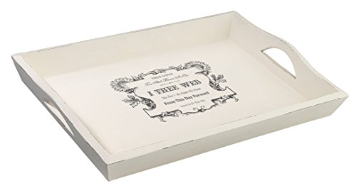 Lillian Rose True Love Wedding Tray, White, 16.5 by 11.5 by 1.5-Inch