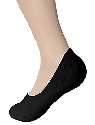 American Trends Women's No-Show Low-Cut Sock Liners Silicon Heel Grip