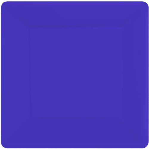 New Purple Square Paper Dessert Plates (20ct)