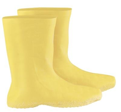 """Radnor® 3X Yellow 12"""" Latex Hazmat Overboots With Ribbed And Textured Outsole"""