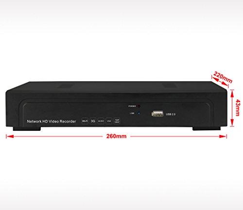 BW H.2648CH 960P/1080p Dual Stream Netzwerk Sicherheit Überwachung CCTV Video Recorder NVR HDMI ONVIF 2.0Embedded Linux Home Überwachung Sicherheit Überwachungskamera Systeme mit 3G, WIFI und mit verschiedenen IP Kamera basiert auf ONVIF Kompatibel, RTSP-Standard