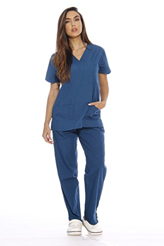 22255V-M Carribean Blue Just Love Women's Scrub Sets / Medical Scrubs / Nursi...