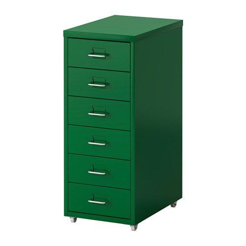IKEA イケア HELMER 引き出しユニット キャスター付き, グリーン 20296128
