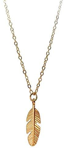 collana di piume tono oro