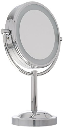 conair double sided battery operated lighted makeup mirror polished. Black Bedroom Furniture Sets. Home Design Ideas