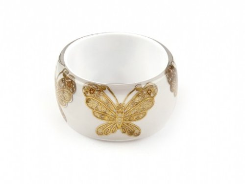 Envious Desire Chunky Gold Butterfly Bangle