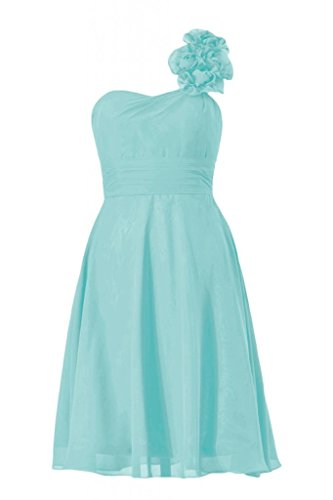 Daisyformals One-Shoulder Short Bridesmaid Dress(Bm10358)- Tiffany Blue