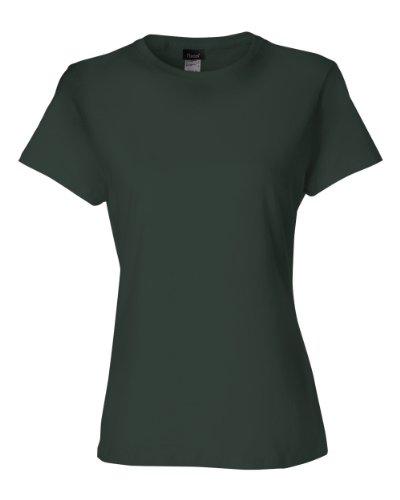 Hanes 4.5 Oz Women'S Nano-T Lightweight Premium T-Shirt - Deep Forest - L front-400942