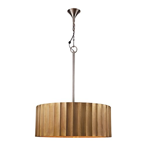 Lazy Susan Large Brass Clad Ribbed Pendant