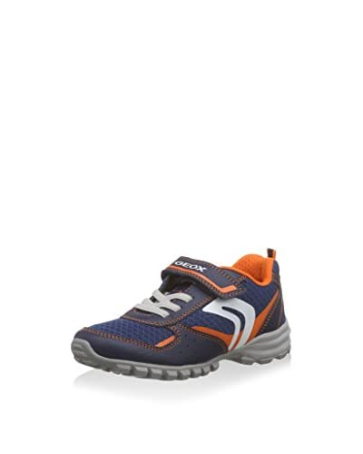 Geox Sneaker Jr Wild  [Blu Navy/Arancione]
