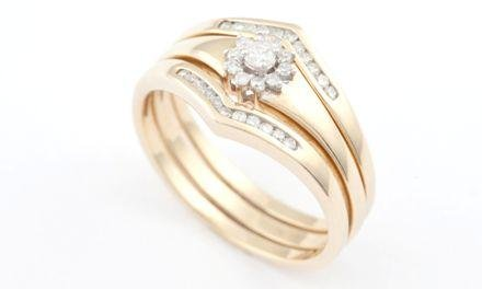 9ct Yellow Gold To Have & To Hold Diamond Bridal Set - Zoe Kay Jewellery
