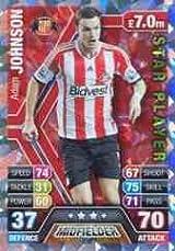 Match Attax 2013/2014 Adam Johnson Sunderland Star Player 13/14