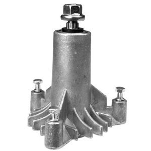 New Replacement for 130794 Spindle, or Mandrel, Craftsman, Poulan, Husqvarn, More.... with pre-tapped mounting holes and 3 mounting bolts
