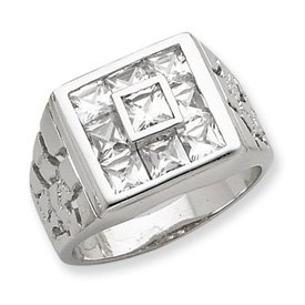 Genuine IceCarats Designer Jewelry Gift Sterling Silver Men's Cz Ring Size 9.00