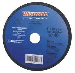 Westward 6ZFH9 Cut Off Wheel, Pipeline, 6x1/16x7/8, AO, Blk